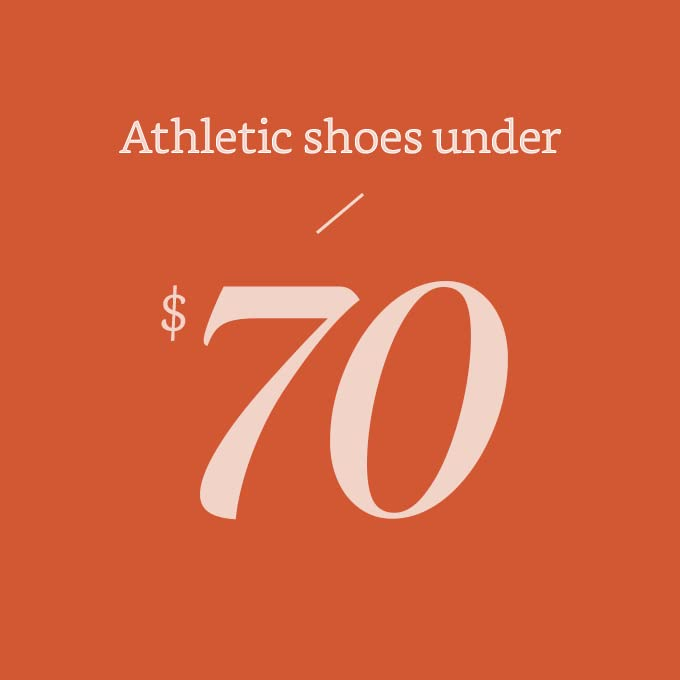 Athletic shoes under $70
