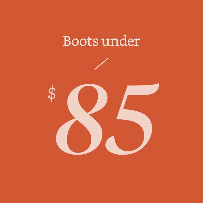 Boots under $85