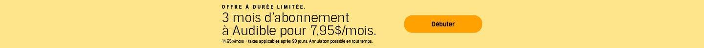 Limited Time Offer: Épargnez 47% sur vos 3 premiers mois.