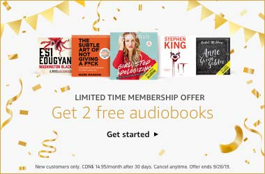 Limited time membership offer: Get 2 free audiobooks.