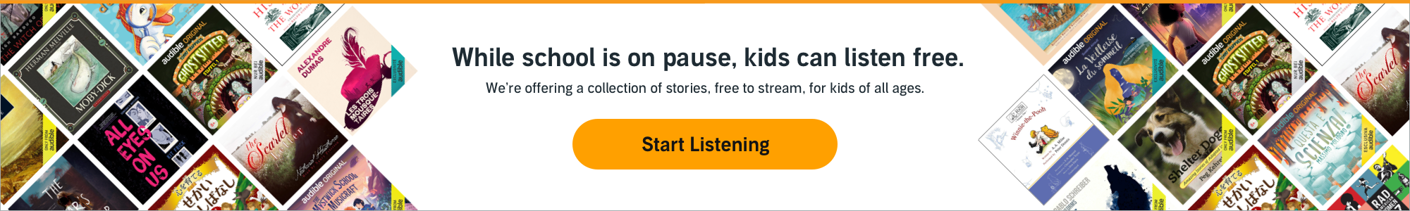 Listen to a collection of stories, free to stream, for kids of all ages