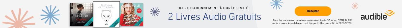 OFFRE À DURÉE LIMITÉE: 2 LIVRES AUDIO GRATUITS AU CHOIX