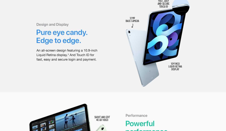 Apple 10.9 Full Screen iPad Air 4th Generation Save 80-2021-8-3