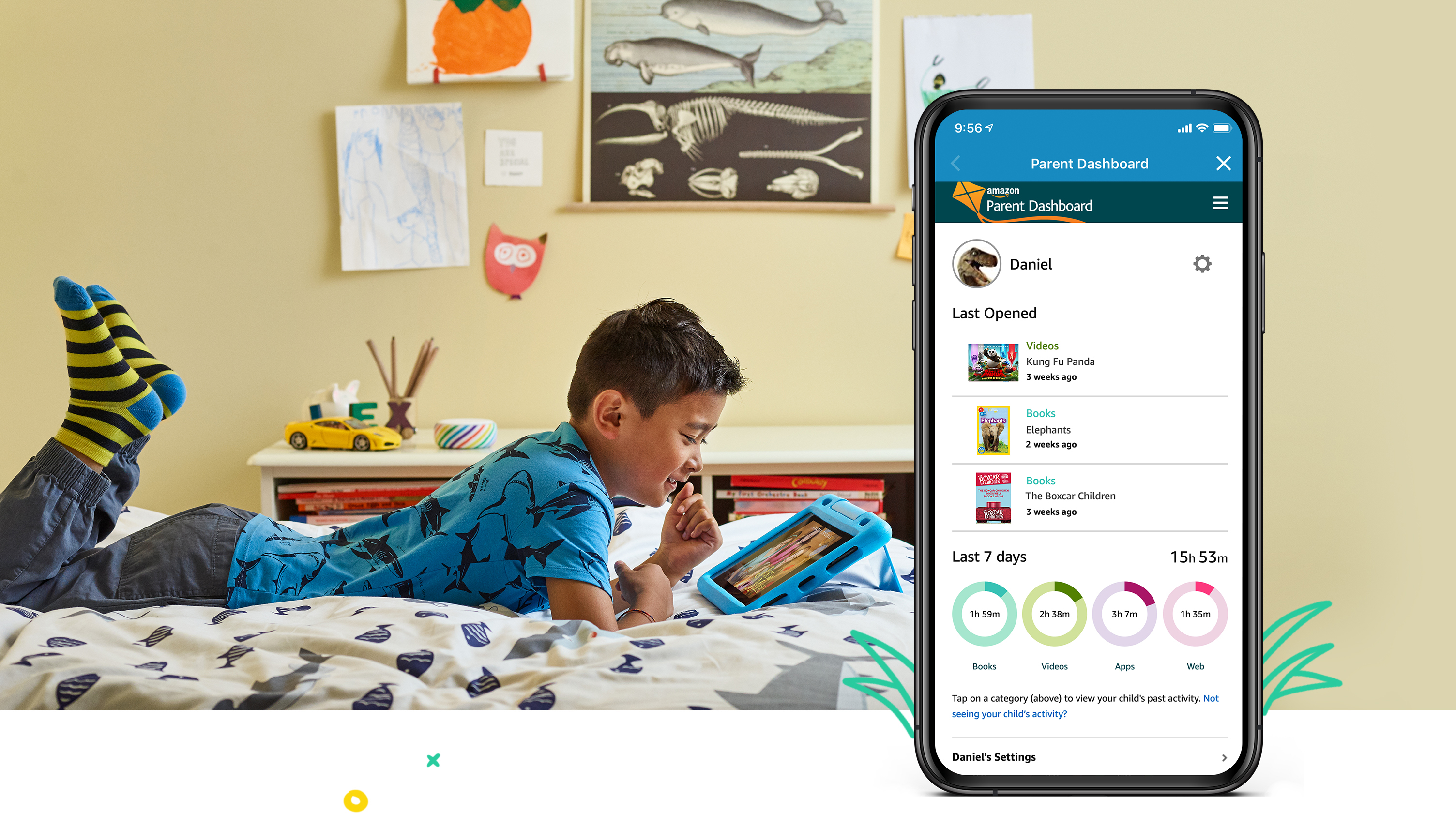 Easy-to-use parental controls