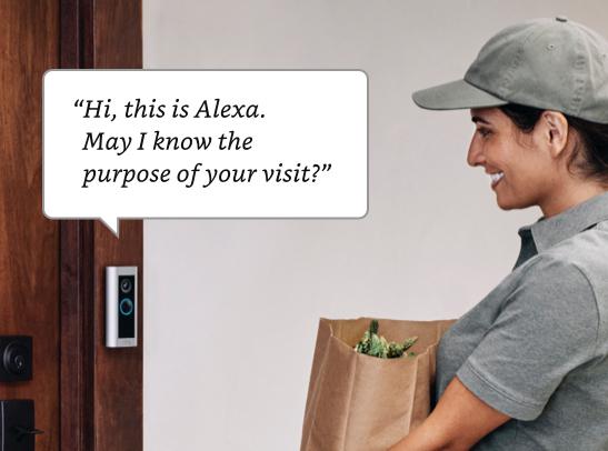 Let Alexa get the door