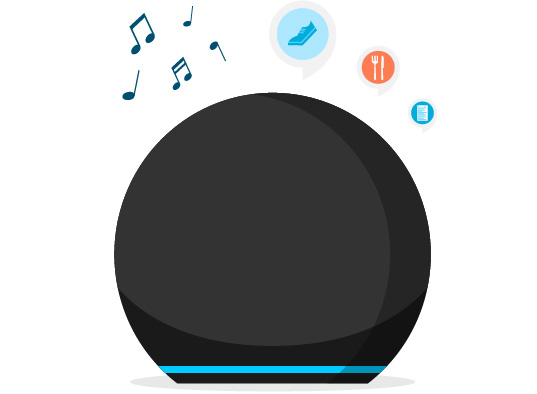 Ask Alexa for music, weather, news, and more.