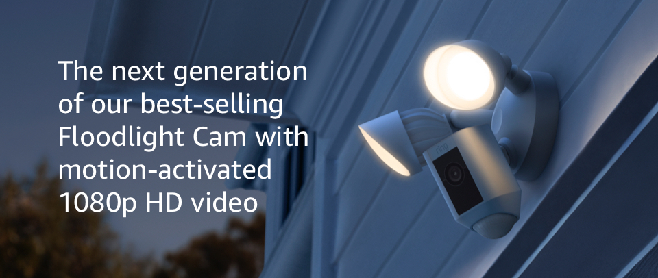 The next generation of our best-selling Floodlight Cam with motion-activated 1080p HD video.