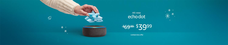 All-new Echo Dot | $39.99