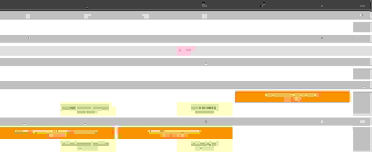 2月课程安排
