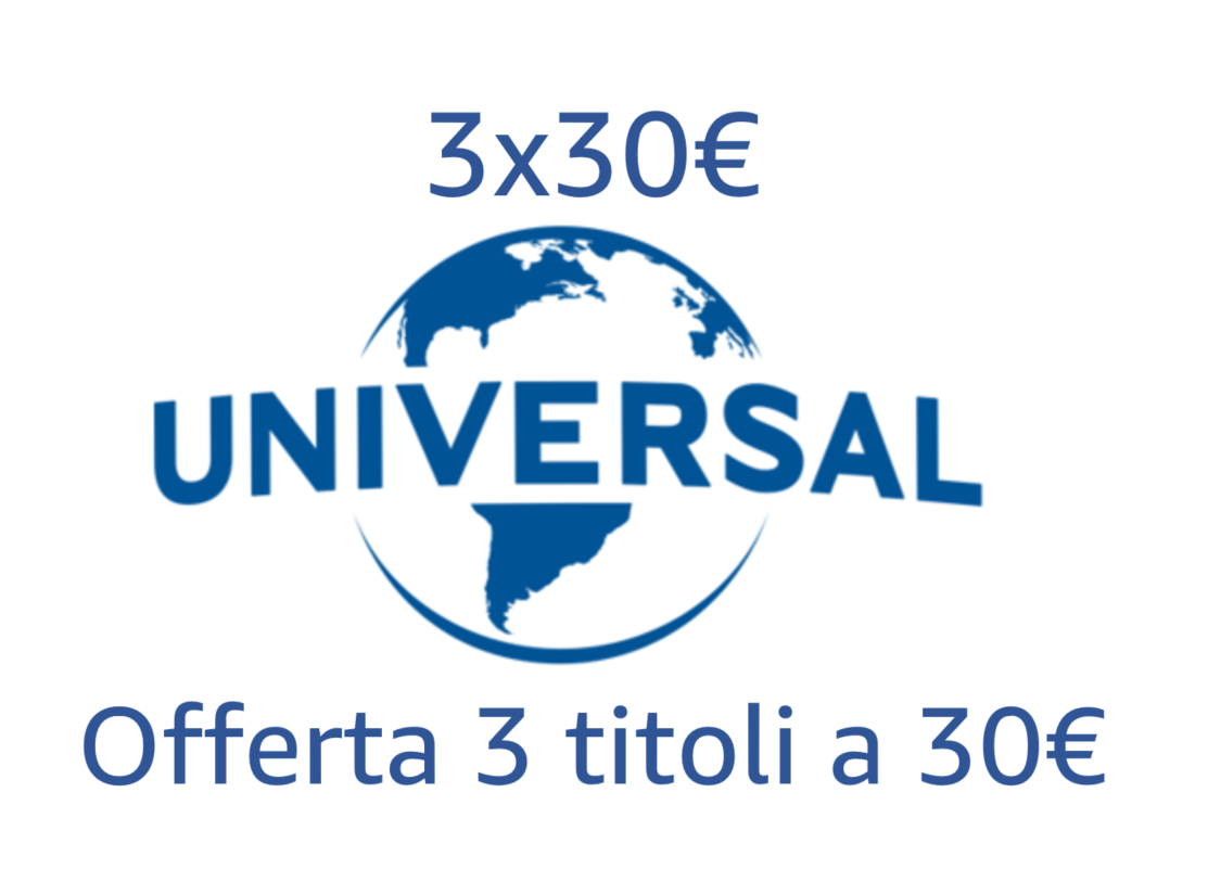 Offerta 3 titoli = 30 EUR
