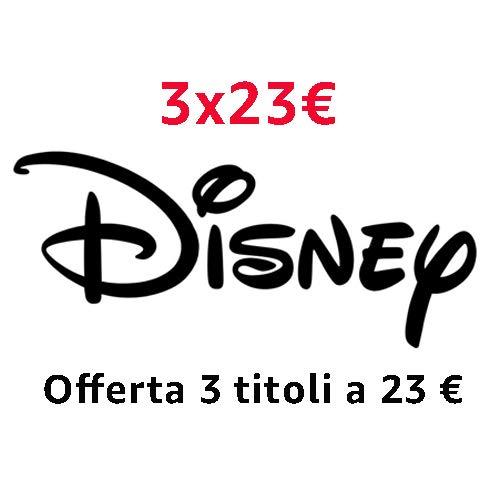 Offerta DVD e Blu-ray Disney: 3 titoli = 23 EUR