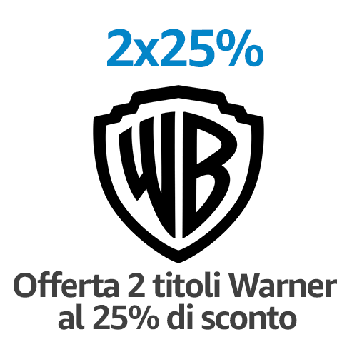 DVD e Blu-ray 2 titoli = -25%