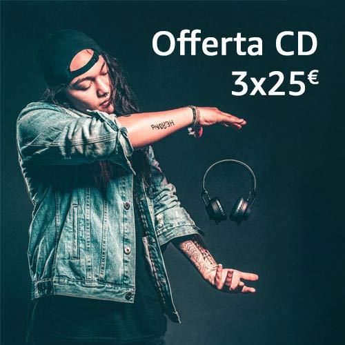 Promozione CD: 3CD a 25€