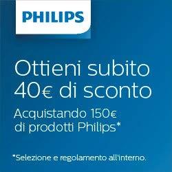 Ricevi €40 di sconto acquistando €150 in prodotti Philips per la tua casa e cucina