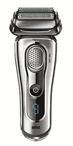 Braun Serie 9 9090cc Rasoio Elettrico a Lamina con Sistema Clean&Charge, Argento Satinato