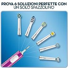Oral-B PRO 600 CrossAction Purple Edition Braun - Spazzolino elettrico ricaricabile, timer, viola