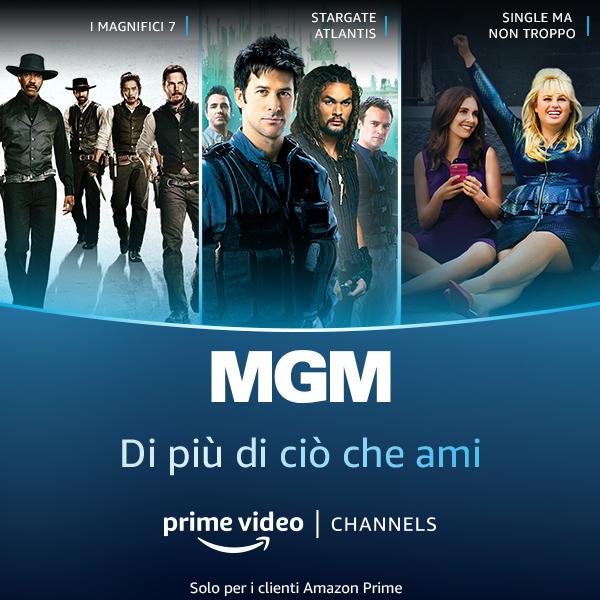 Aggiungi MGM al tuo Prime Video. Di più dei classici che ami!