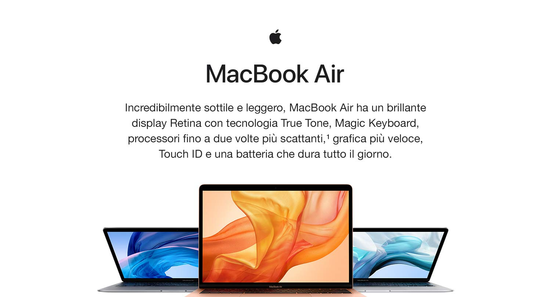 offerta amazon macbook