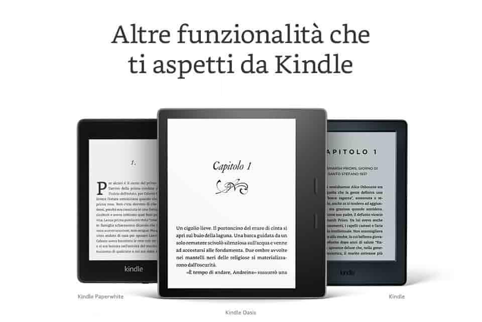Altre funzionalità che ti aspetti da Kindle