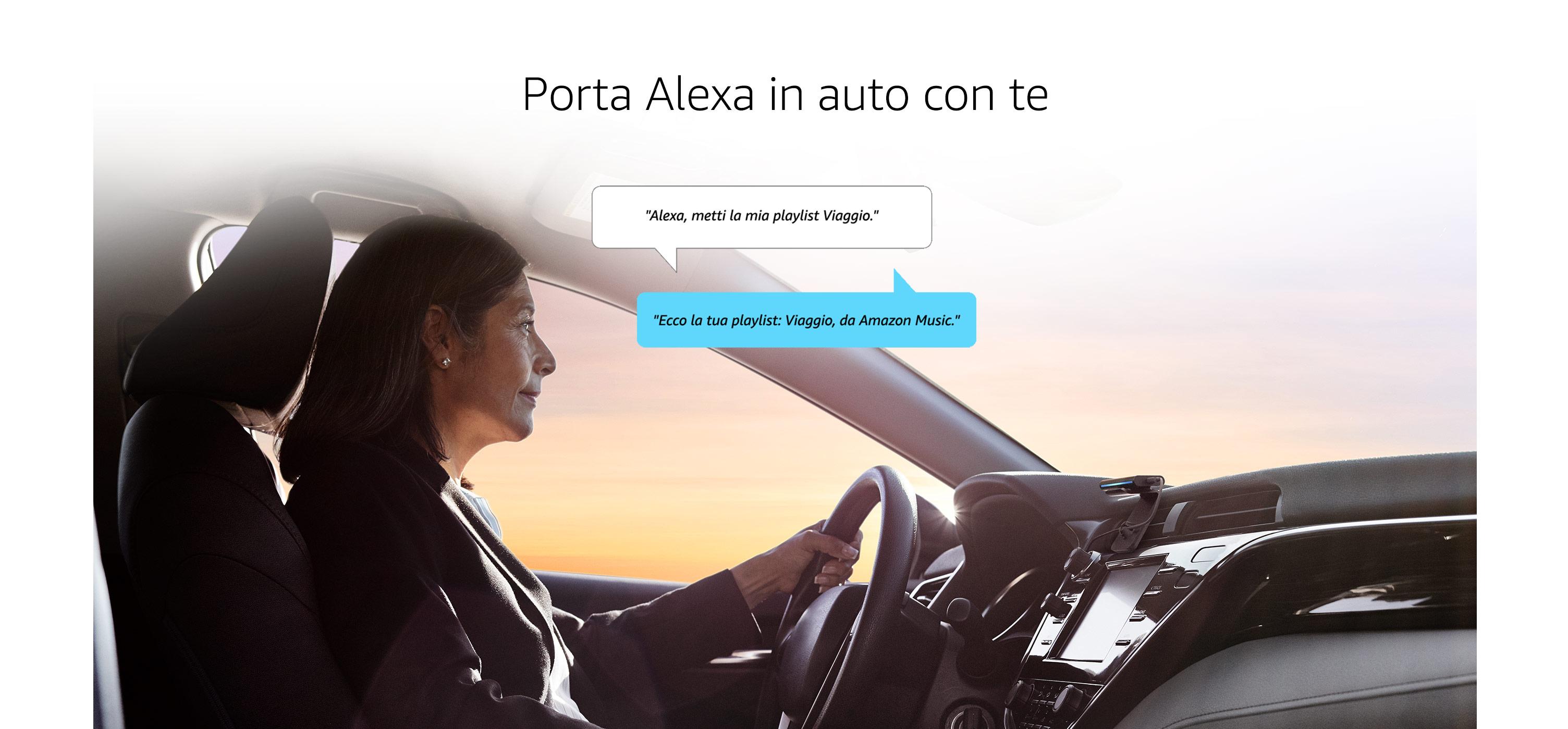 Porta Alexa in auto con te