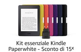 15 € di sconto sul kit  essenziale Kindle Paperwhite