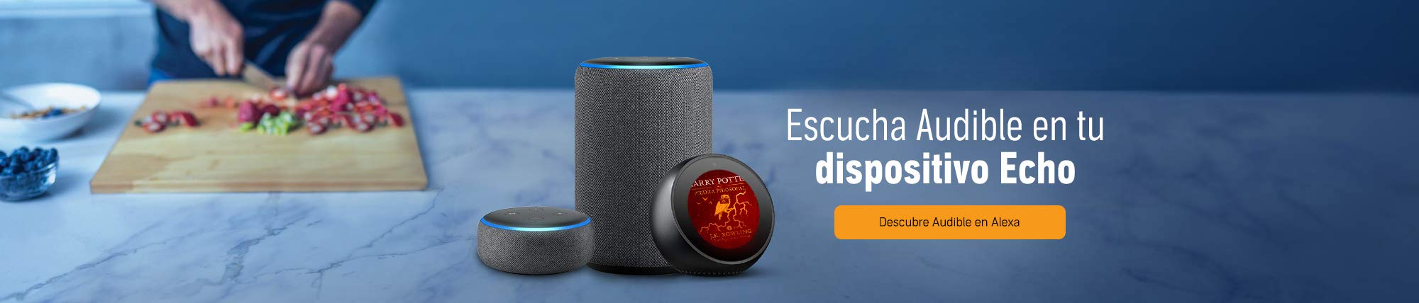 Escucha Audible en tu dispositivo Echo.