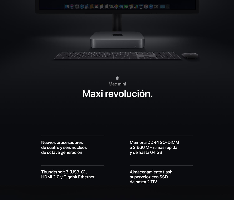 Apple Mac mini (Modelo Anterior, 8GB RAM, 128GB de almacenamiento ...