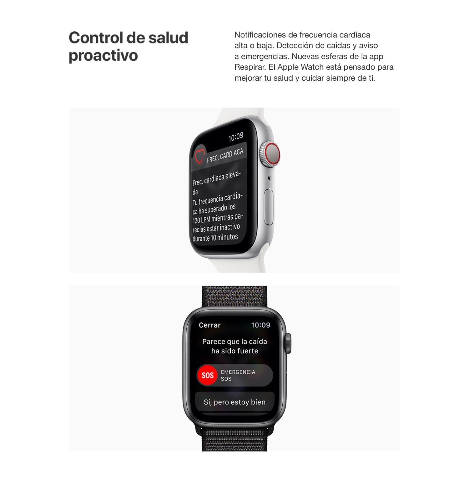 Apple Watch Series 4 (GPS + Cellular) con caja de 44 mm de ...