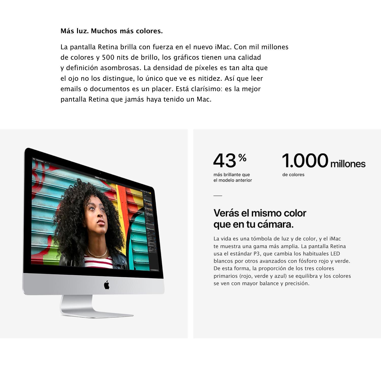 Apple iMac 27 pulgadas (pantalla Retina 5K, procesador Intel Core ...