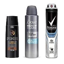 Hasta un 30% en desodorantes masculinos de AXE, Rexona, Dove Men y Magno