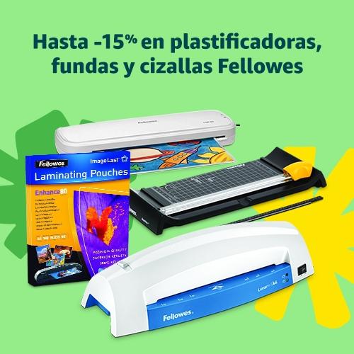 Hasta -15% en plastificadoras, fundas y cizallas Fellowes