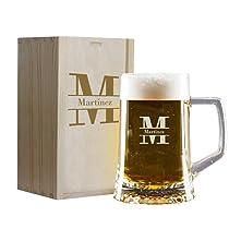 Oferta- jarras de cerveza/ productos de madera personalizadas para San Valentín
