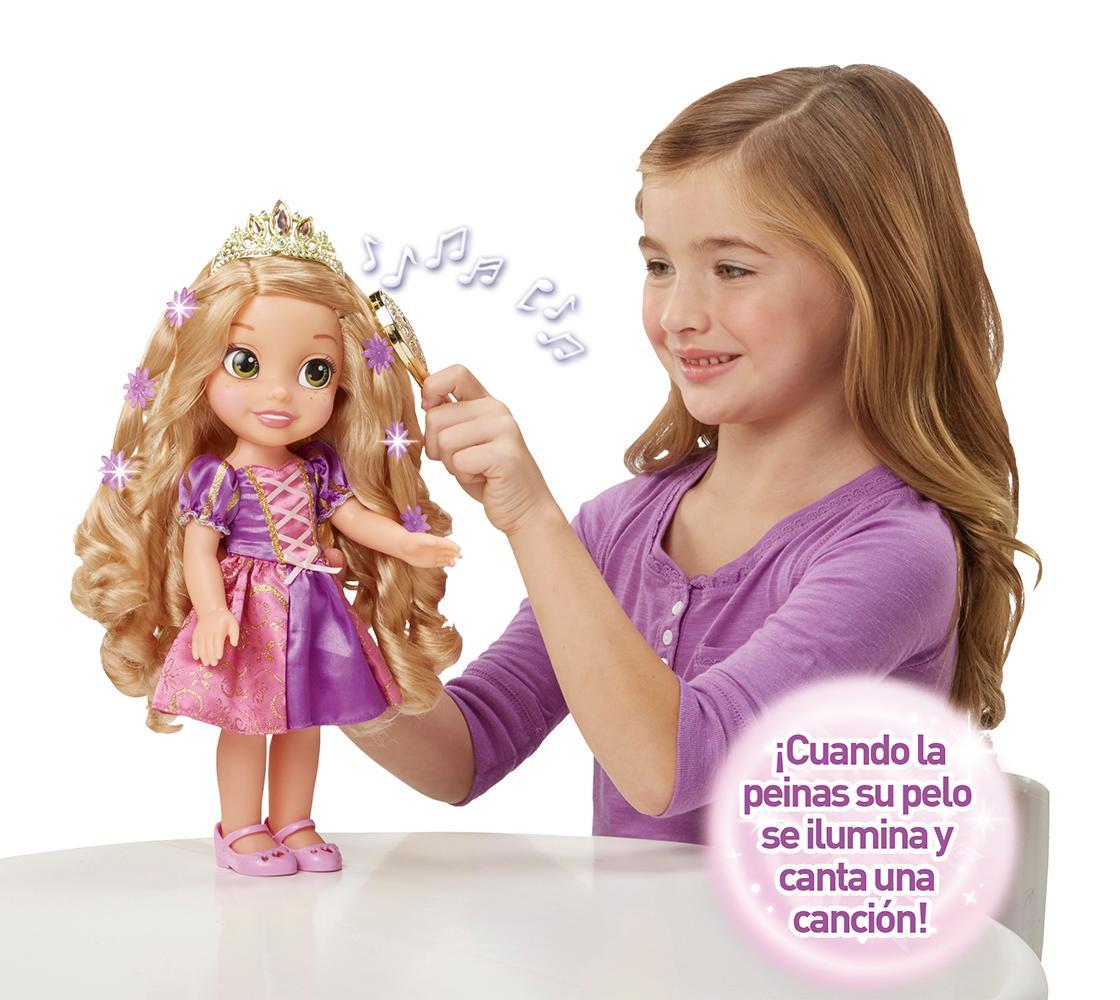 Disney Princess - Rapunzel peinados mágicos, muñeca que