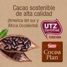 Cacao, utz, cacao sostenible, nestle postres, tableta Nestle, postres de chocolate