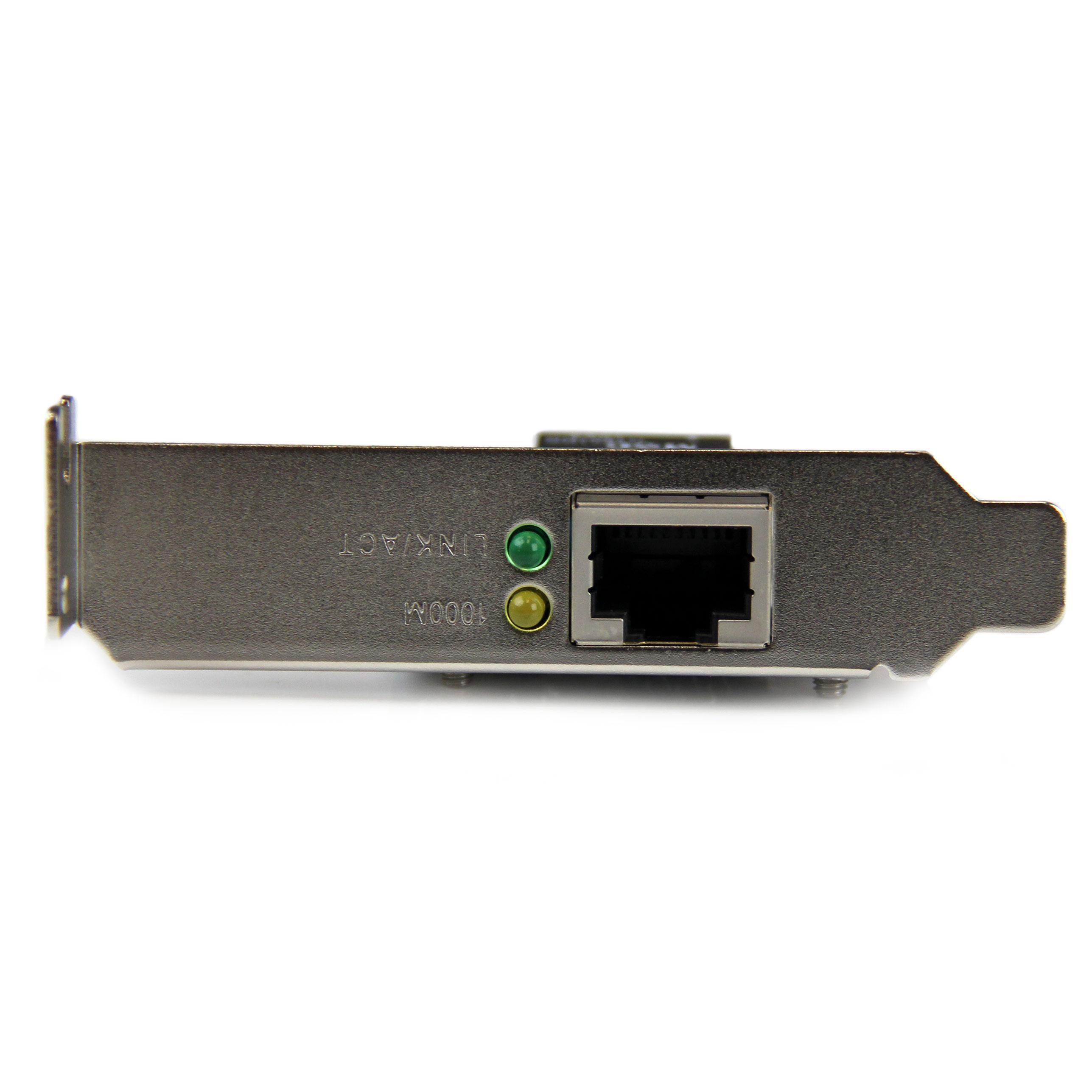 StarTech.com ST1000SPEX2L - Tarjeta de Red (PCI Express, 1 Puerto Gigabit Ethernet, Nic PCI-E, 1 x RJ45 Hembra, Perfil bajo)