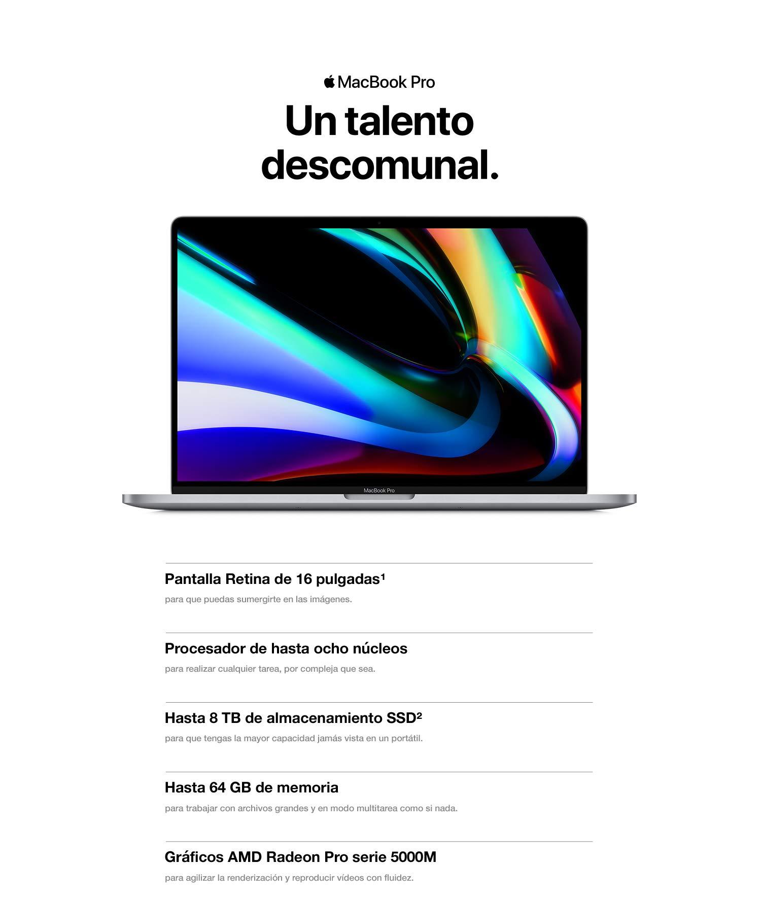Nuevo Apple MacBook Pro (de 16 pulgadas, 16 GB RAM, 512 GB de ...