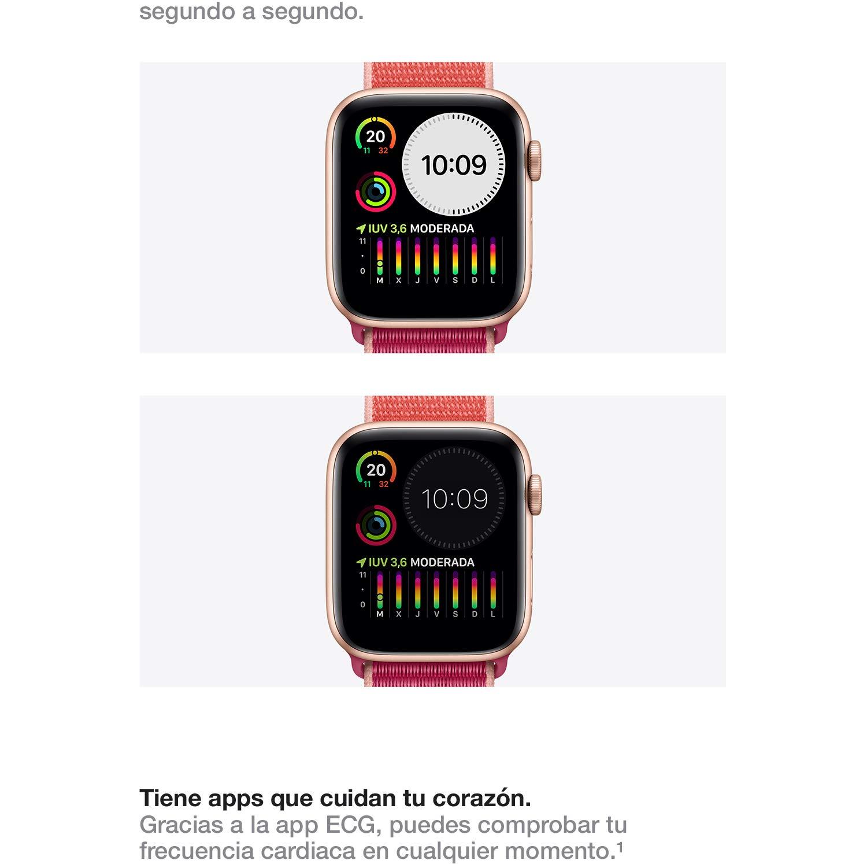 Apple Watch Series 5 (GPS, 40 mm) Aluminio en Gris Espacial ...