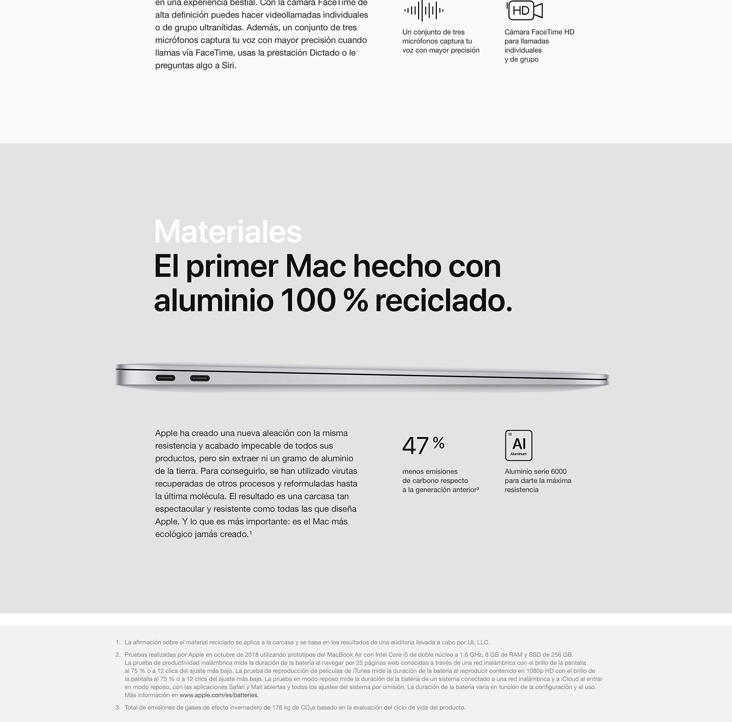Apple MacBook Air (de 13 pulgadas, Modelo Anterior, 8GB RAM, 256GB de almacenamiento) - Oro: Apple: Amazon.es