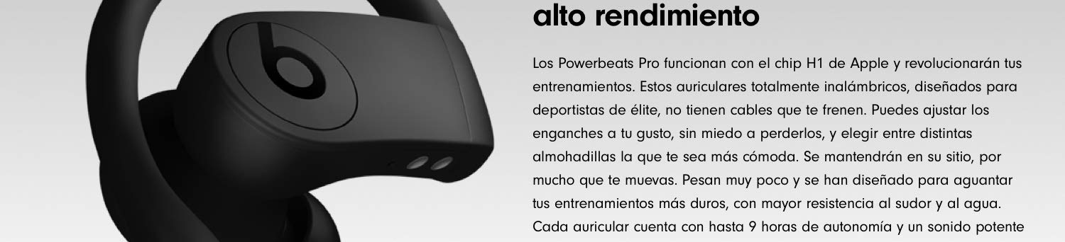 Powerbeats Pro - Auriculares intraurales inalámbricos - Chip Apple ...