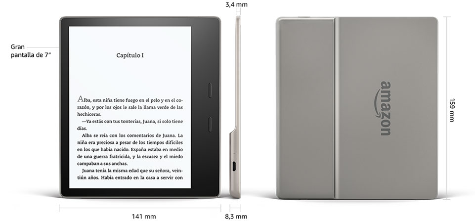E-reader Kindle Oasis Reacondicionado Certificado, resistente al ...