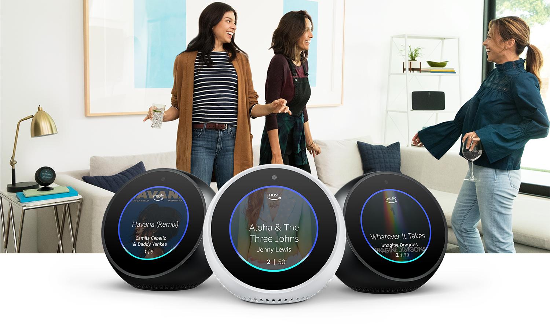 Amazon Echo Spot - Reloj despertador inteligente con Alexa, negro ...