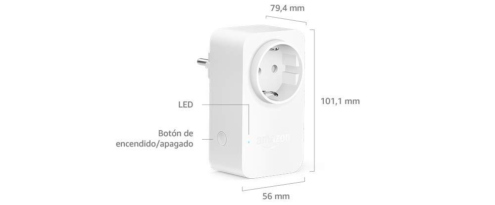 Amazon Smart Plug (enchufe inteligente wifi), compatible con Alexa ...