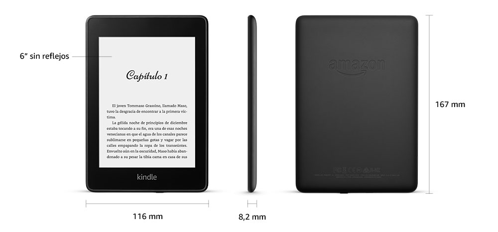 Kindle Paperwhite | E-reader resistente al agua con 8 GB de ...