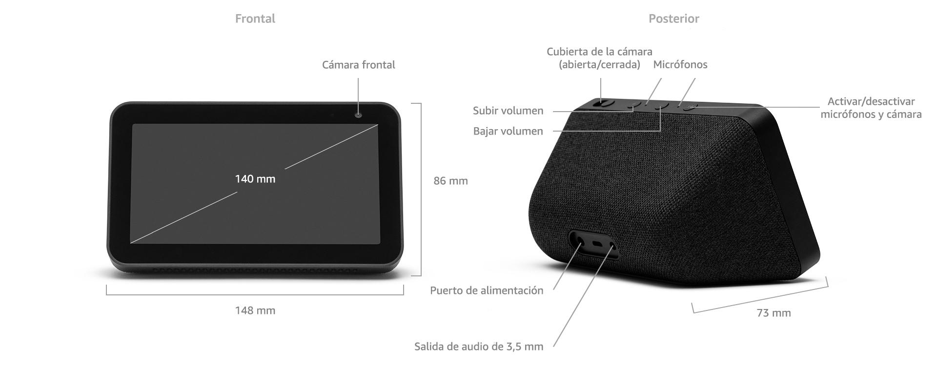 Echo Show 5, negro + Philips Hue White Pack de 2 bombillas LED ...