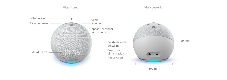 Echo Dot (4.ª generación) con reloj