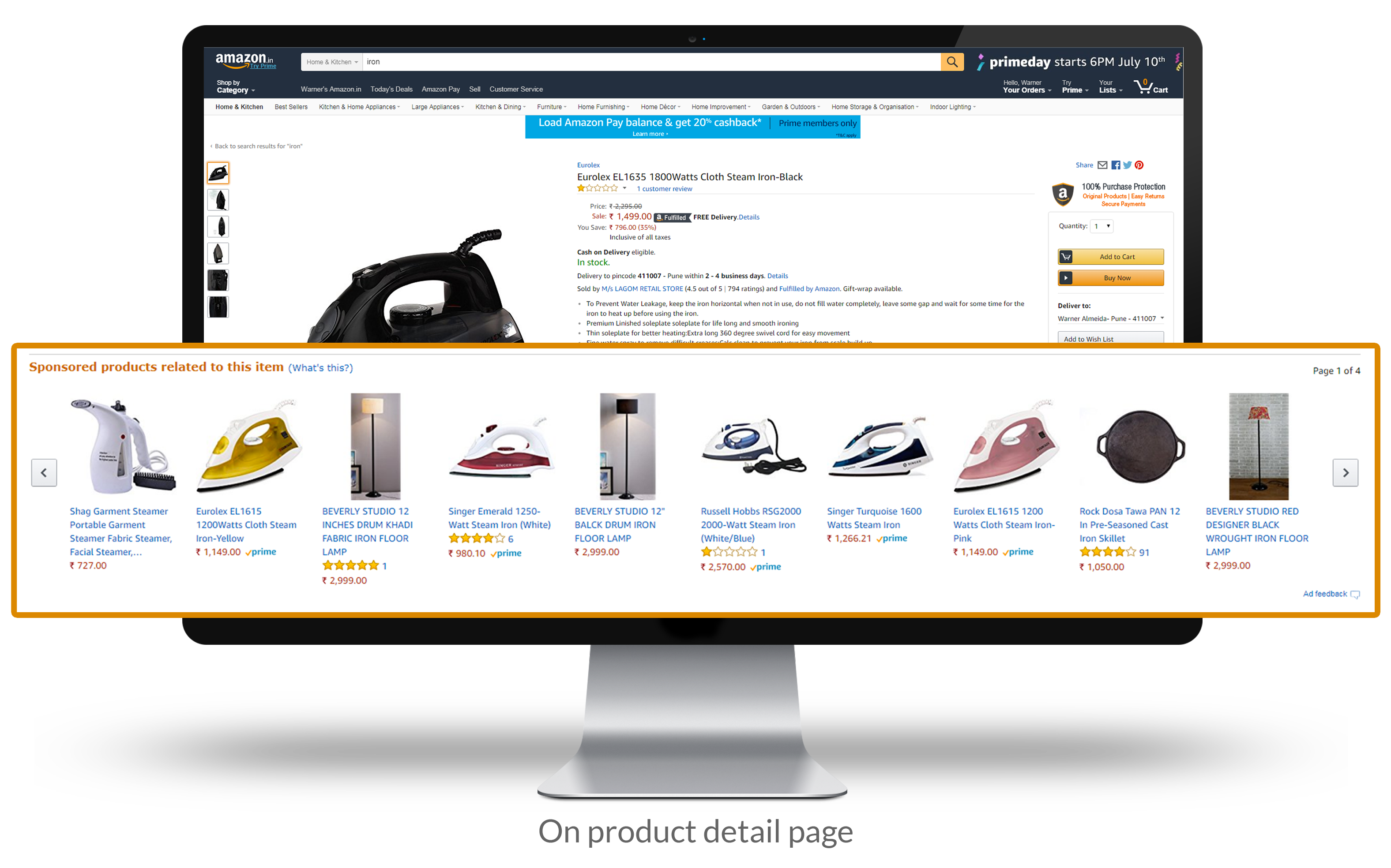 Product detail page across desktop and mobile