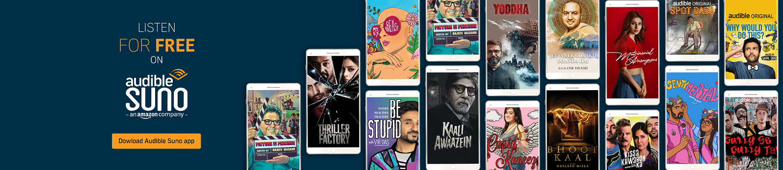 Audible Suno, Listen to India's most famous voices