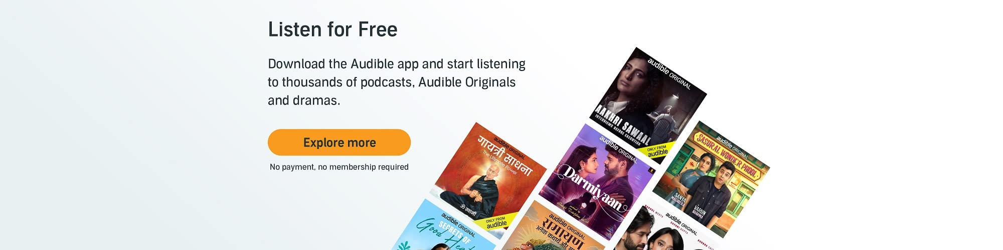 Listen for free, no membership no payment