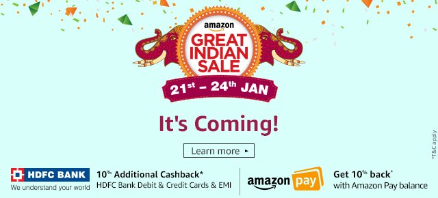Great Indian Sale | Coming Soon