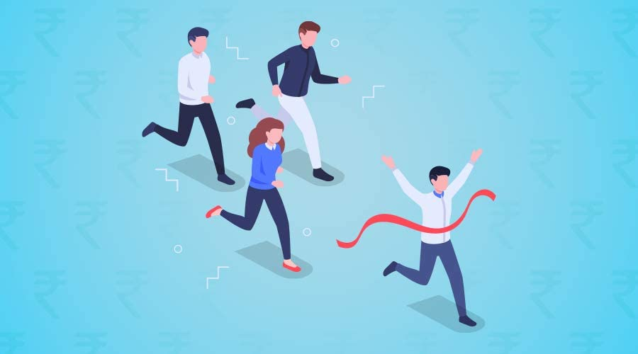 sellers racing to finish line illustration